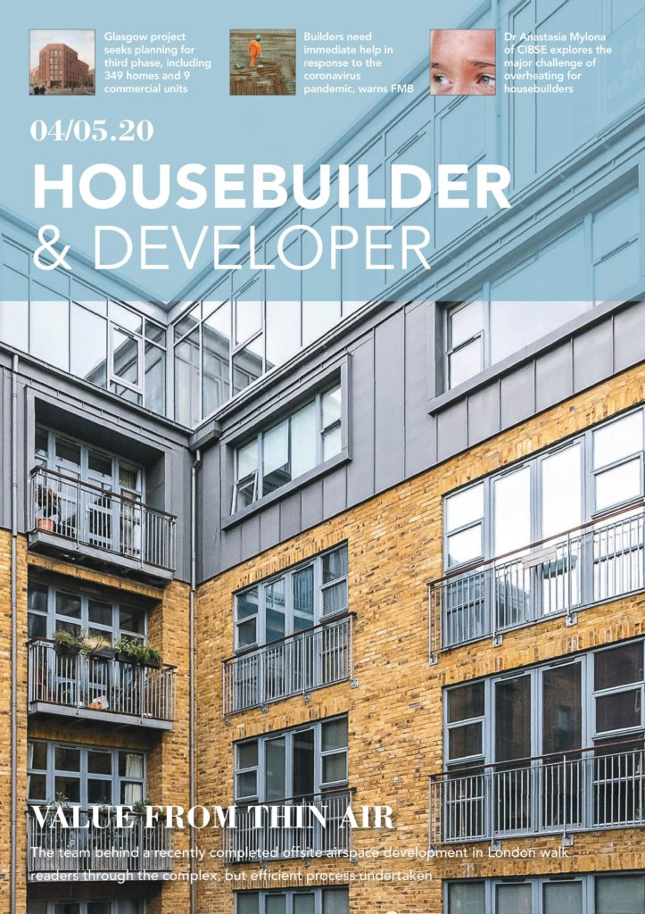 Click Above ltd feature in Housebuilder and Developer Magazine in May 2020 Features our Corben Mews airspace development
